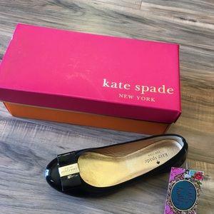 Kate Spade black patent leather flats❤️❤️